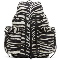 Dries Van Noten Black And White Canvas Backpack