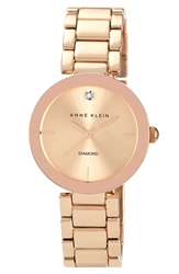 Anne Klein Mirror Bezel Bracelet Watch 32Mm Rose Gold