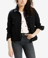 Levi's Sherpa Collar Denim Jacket Black Harbor