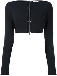 Thierry Mugler Cropped Blouse Black