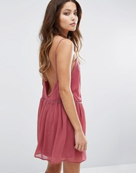 Baandsh Low Back Mini Dress Vieuxrose Pink