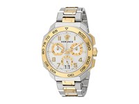 Versace Dylos Chrono Vqc03 0015 Stainless Steel Yellow Gold Watches