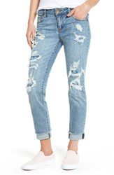 Kut From The Kloth Women's Destroyed And Patched Boyfriend Jeans