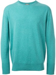 N.Peal 'The Oxford' Crew Neck Sweater Green
