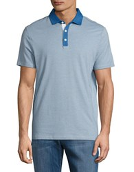 Perry Ellis Textured Performance Polo Classic Blue
