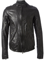 Lost And Found Horse Leather Jacket Black