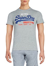 Superdry Vintage Logo Graphic Tee Grey Marl