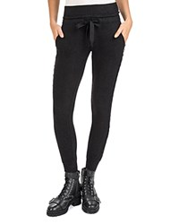 The Kooples Sweet Lace Inset Joggers Black