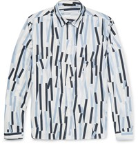 Christopher Kane Bolster Printed Cotton Poplin Shirt White