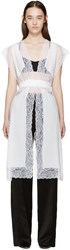 Givenchy White Silk And Lace Vest