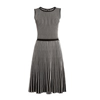 Rumour London Sienna Striped Fit And Flare Dress Black White