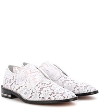 Givenchy Derby Double Chain Lace Shoes White