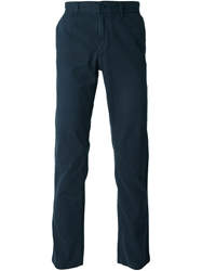 Woolrich Slim Fit Chino Trousers Blue
