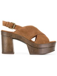 L'autre Chose Cigar Sandals Brown