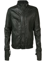 Barbara I Gongini Zip Detail Jacket Men Cotton Sheep Skin Shearling 48 Black