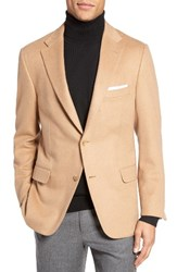 Hickey Freeman Men's Beacon Classic Fit Camel Hair Blazer