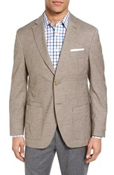 Jkt New York Men's Trim Fit Check Wool And Cotton Sport Coat Tan