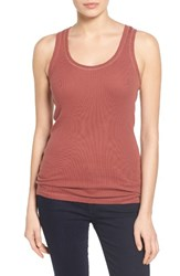 Caslonr Women's Caslon Ribbed Racerback Tank Red Jelly