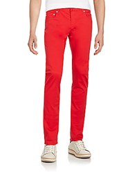 Christian Dior Bold Colored Skinny Jeans Rouge