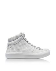 Jimmy Choo Belgravi White Embossed Nubuck Men's High Top Sneaker W Stars