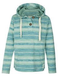 Fat Face Paignton Popover Hoodie Turquoise