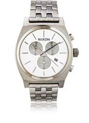 Nixon Time Teller Chrono Watch Silver