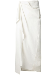 Baja East Towel Wrap Skirt White