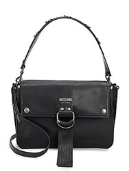 Sergio Rossi Leather Shoulder Bag Black