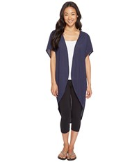 Lucy Yoga Flow Wrap Navy Women's Clothing Black