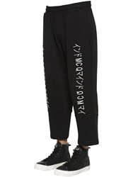 Mcq By Alexander Mcqueen Embroidered Cropped Cotton Sweatpants