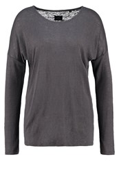 Opus Seconda Long Sleeved Top Raven Grey Anthracite