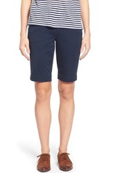 Jag Jeans Women's 'Ainsley' Slim Bermuda Shorts Nautical Navy