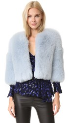 J. Mendel Shadow Fox Chubby Jacket Pale Blue