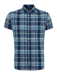Criminal Eddie Check Short Sleeve Shirt Multi Coloured