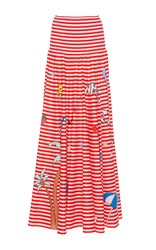 Mira Mikati Printed Circle Skirt Stripe