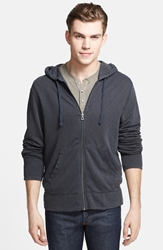 James Perse Vintage Zip Hoodie Carbon Pigment