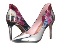 Ted Baker Savei Blushing Bouquet Silver Mirror Metallic Pu Women's Shoes
