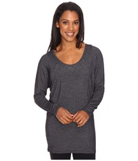Lucy Take A Pause Long Sleeve Tunic Black Heather Women's Long Sleeve Pullover