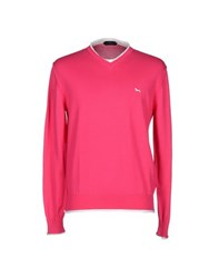 Harmontandblaine Knitwear Jumpers Men Fuchsia