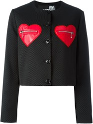 Love Moschino Zip Heart Pocket Jacket Black