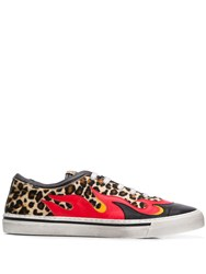 Just Cavalli Leopard Print Sneakers Black