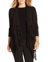 Lauren Ralph Lauren Plus Fringed Shawl Cardigan Black