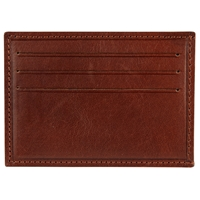 John Lewis Made In Italy Leather Card Holder And Money Clip Brown