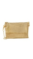 Whiting And Davis Metal Cross Body Pouch Gold