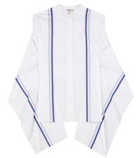 Edun Striped Cotton Poplin Top White