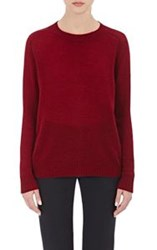 Barneys New York Women's Cashmere Loose Knit Sweater Red