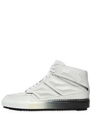 Alejandro Ingelmo 3D Gradient Leather High Top Sneakers