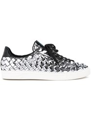 Guild Prime Metallic Grey Woven Sneakers Men Artificial Leather 41