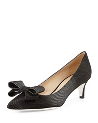 White By Ron White Tess Suede Bow Pump Onyx Combo