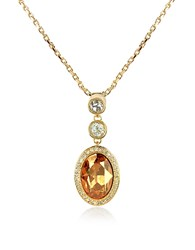 A Z Collection Az Gold Plated Triple Drop Necklace